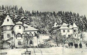 Postcard Romania Iarna vedere din Sangeorz-Bai