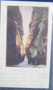 Oneonta Gorge Columbia River Oregon 1905