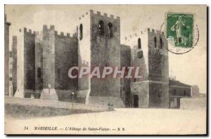 Postcard Marseille Old Abbey of Saint Victor