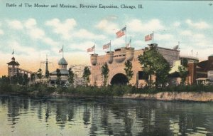 CHICAGO, Illinois, 1900-10s ; Riverview Exposition, Battle of Monitor & Merimac