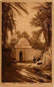 CPA AK Lehnert & Landrock 165 Une marabout dans l'oasis TUNISIE (873757)