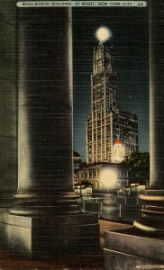 NY - New York City. Woolworth Building at Night