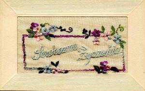 Embroidered Silk - Serdeczne Zyczenia (Best Wishes)