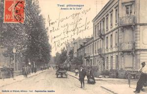 Toul France picturesque street scene horse buggy antique pc Y10963