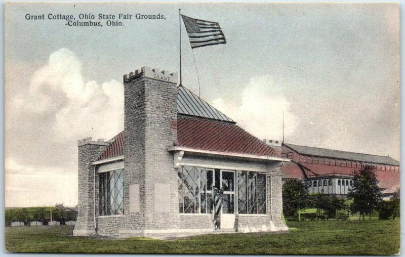 Columbus, Ohio Postcard Grant Cottage, State Fair Grounds Hand-Colored c1910s