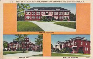 Some of the Main Buildings, Presbyterian Orphans' Home, Barium Springs, North...
