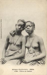 CPA Senegal Ethnic Nude Fortier - 1181. Filles de Dakar (71166)