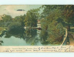 Pre-1907 TAUNTON BOAT CLUB BUILDING Taunton Massachusetts MA t3706