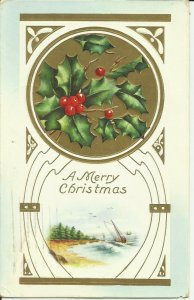 A Merry Christmas--- Embossed