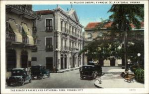 Panama City Bishop's Palace & Cathedral Park c1920 Postcard