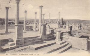 Tunisia Ruines Romaines de Timgad Entree du Forum 1907