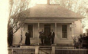 C.1910 RPPC O.Bailey House Movers Office, Caraghra, Ohio Postcard P123