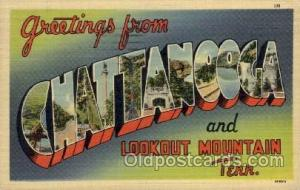 Chattanooga, Tennessee Large Letter Town Towns Post Cards Postcards  Chattano...