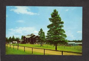 ME Sky Lodge Motel Moose River Maine Near Jackman Postcard