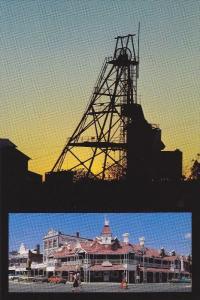 2 Views, Gold Mining Derrick & City Shops, Kalgoorlie, Western Australia