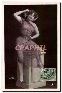 Postcard Old Woman naked erotic