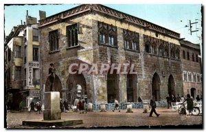 Old Postcard Perpignan La Loge de Mer and a statue of Maillol