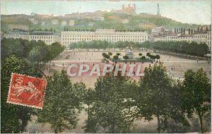Old Postcard Lyon instead bookstore