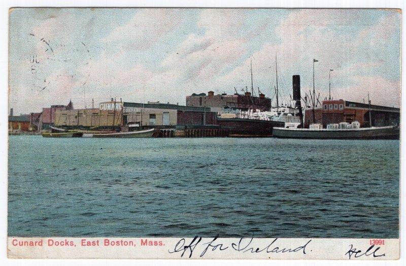 East Boston, Mass, Cunard Docks