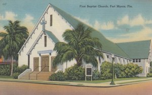FORT MYERS, Florida, 1930-40s; First Baptist Church