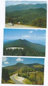 NC Mount Mt. Mitchell Views North Carolina (3 cards)