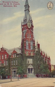 BALTIMORE , Maryland,1910s ; Woman's College & 1t M.E. Church