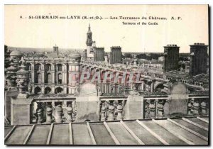 Postcard Old St Germain en Laye S and O Les Terrasses du Chateau