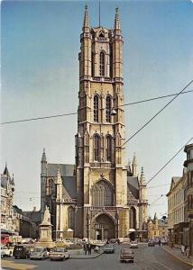 Belgium Gent St Baafskerk, Eglise St Bavon Church Vintage Cars Voitures