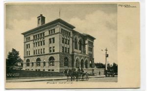 Post Office Helena Montana 1910c postcard