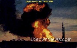 Oil Well Fire Canton OK Unused