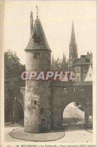 Postcard Old 10 Mulhouse round Bollwerk Salvador (xiv century)