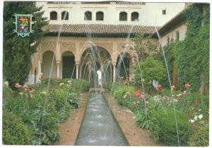 Spain, Granada, Patio de la Acequia, 1981 used Postcard
