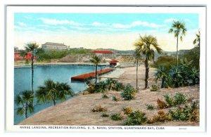 GUANTANAMO BAY, Cuba ~ US NAVAL STATION Recreation Building c1920s Postcard