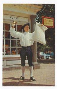 Town Crier Williamsburg Virginia Vintage VA Postcard Posted 1970