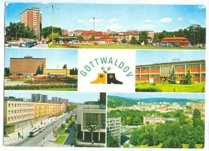 Czech Republic, GOTTWALDOV, multi view, 1970s used Postcard