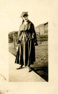 A Woman in Contemporary Gard, circa 1910.     *RPPC