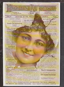 Hood's Trade Card Reproduction Postcard BIN