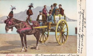 Italy Palermo Carro Siciliano Decorated Horse & Cart 1906 sk4036
