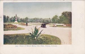 Colorado Denver Statue Of Robert Burns City Park 1908