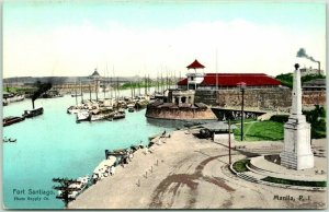 1910s MANILA Philippines Postcard FORT SANTIAGO Bird's-Eye Panorama View