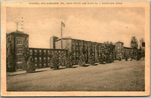 Danielson, CT Postcard POWDRELL AND ALEXANDER Main Office & Plant No. 3 - 1950