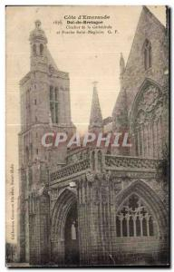 Old Postcard Cote d'Emeraude Dol De Bretagne Bell tower of the Cathedral