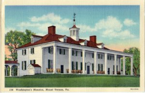 Mt Vernon VA - WASHINGTON'S MANSION with rocking chairs on the back porc...