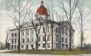 Ohio Postcard c1910 IRONTON Lawrence County Court House Building