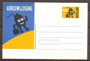 Netherlands - Postcard - Change of Address - NEVER USED -