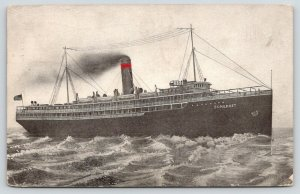 Savannah GA Cancel~Picture of Our Boat~SS Somerset Steamer~Lovely Voyage~1914
