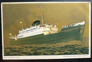 Mint England picture postcard MV Innisfallen Fishguard Cork Direct Service
