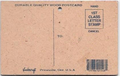 US Wooden post card, Branson, Mo.  You might be a 'red neck'.  Mint