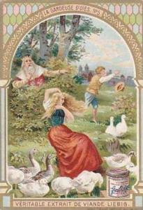 Liebig Vintage Trade Card S783 The Goose Girel No 5  La Gardeuse D'Oies