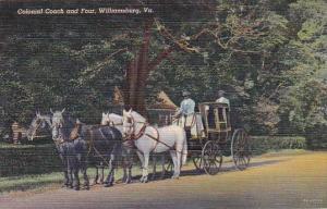 Virginia Williamsburg Colonial Coach And Four